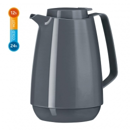 EMSA MOMENTO Coffee Isolierkanne Thermoskanne Kaffekanne, Quick Tip, Anthrazit, 1,0L