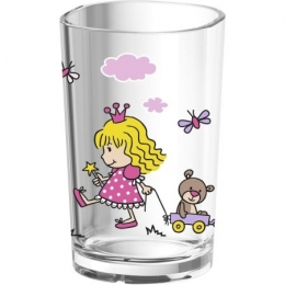 EMSA KIDS Kinderglas Kinderbecher TrinkbecherRosa/Princess, 0,2 L