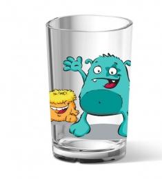 EMSA KIDS Kinderglas Kinderbecher TrinkbecherTürkis/Monstert, 0,2 L