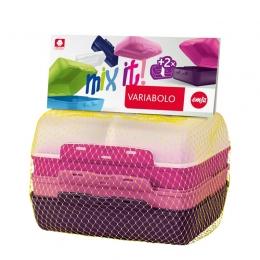 EMSA VARIABOLO Brotdose Brotbox Versperdose , 4-teilig + Trennern, GIRLS