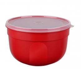 EMSA SUPERLINE Colours rot  Frischhalteschale Frischhaltedose Vorratsdose rund 1,25L