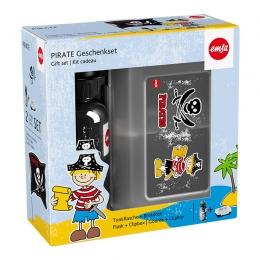 EMSA KIDS Trinkflasche & VARIABOLO Brotdose Geschenkset Pirat