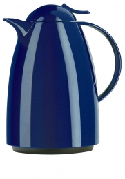 Emsa AUBERGE Isolierkanne Thermoskanne Isokanne Kaffeekanne, Blau, 1,0 L