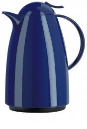 Emsa AUBERGE Isolierkanne Thermoskanne Isokanne Kaffeekanne, Blau, 1,5 L