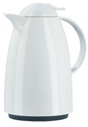 Emsa AUBERGE Isolierkanne Thermoskanne Isokanne Kaffeekanne, Weiß, 1,5 L