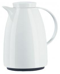 Emsa AUBERGE Isolierkanne Thermoskanne Isokanne Kaffeekanne, Weiß, 1,0 L