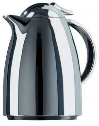 Emsa AUBERGE Isolierkanne Thermoskanne Isokanne Kaffeekanne, Chrom, 0,35 L