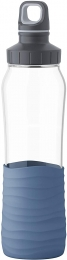 Emsa Drink2Go Glas Trinkflasche Fassungsvermögen: 0,7 Liter Schraubverschluss Aqua-Blau