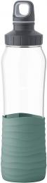 Emsa Drink2Go Glas Trinkflasche Fassungsvermögen: 0,7 Liter Schraubverschluss Petrol-Grün