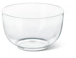 Emsa 5er Set  FIT & FRESH Salatschale Salatschüssel Servierschüssel Transparent, 4,5 L 24 Øcm