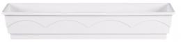Emsa  LAGO 5 Stück Blumenkasten Balkonkasten  Pflanzkasten weiß 100 cm
