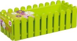 Emsa Landhaus 5 Stück Blumenkübel Balkonkasten Blumenkasten 75 cm, grün