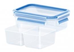 Emsa 8er Set  CLIP & CLOSE Frischhaltedose, Frischhaltedose mit 2 Einsätzen, 0,55 L
