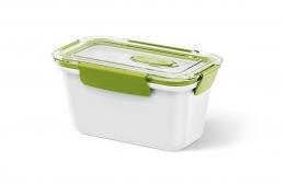 Emsa BENTO BOX 6er Set Lunchbox Speisegefäß Mikrowellentopf rechteckig 0,9l Weiß / Grün