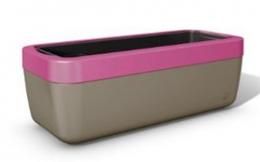 Emsa myBOX Blumenkasten 50 cm, braun/pink