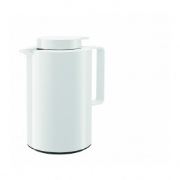 Emsa ULTIMA Isolierkanne, Thermoskanne, Kaffeekanne Quick Tip, Weiß, 0,85 L