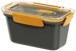 Emsa BENTO BOX Lunchbox Speisegefäß Mikrowellentopf rechteckig 0,9l Grau / Orange