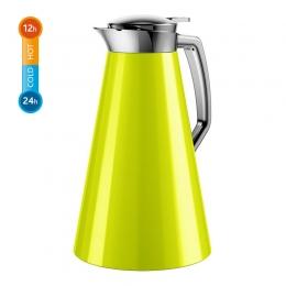 Emsa CASCAJA Isolierkanne Kaffekanne Thermoskanne Quick Tip 1,0L, Limone