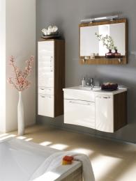 Waschplatz Laonda Waschtisch Waschbecken mit Spiegel Badschrank Badezimmer