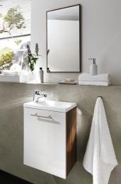 Waschplatz Alexo Waschtisch Waschbecken mit Spiegel Gäste-WC Waschbeckenunterschrank