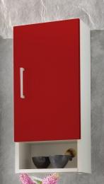 Hängeschrank Badschrank Adelano weiss-rot  Maße B x T x H ca. 78,5 x 41 x 6,5 cm