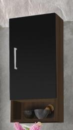 Hängeschrank Badschrank Adelano walnuss-schwarz  Maße B x T x H ca. 78,5 x 41 x 6,5 cm
