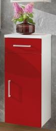 Unterschrank Badschrank Adelano weiss-rot  Maße B x T x H ca. 77 x 40 x 10,5 cm