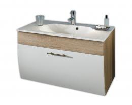 Waschplatz Waschtisch Waschbecken Salona sonoma-eiche-weiss  Maße B x T x H ca. 97 x 53,5 x 10 cm