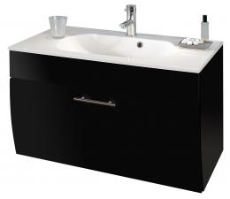 Waschplatz Waschtisch Waschbecken Salona anhtrazit  Maße B x T x H ca. 97 x 53,5 x 10 cm