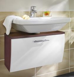 Waschbecken-Unterschrank Badschrank Salona walnuss-weiss  Maße B x T x H ca. 82 x 40 x 9 cm