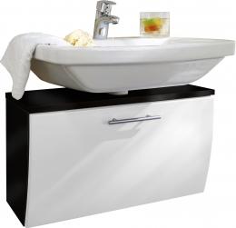 Waschbecken-Unterschrank Badschrank Salona anthrazit-weiss  Maße B x T x H ca. 82 x 40 x 9 cm