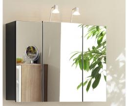 Spiegelschrank Badspiegel Badschrank multi-use anthrazit  Maße B x T x H ca. 98 x 57 x 8,5 cm