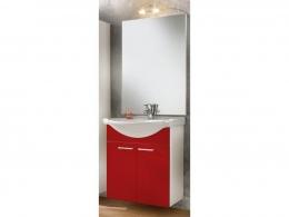 Waschplatz Waschtisch Waschbecken Adelano weiss-rot  Maße B x T x H ca. 103,5 x 70 x 9 cm