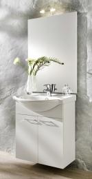 Waschplatz Waschtisch Waschbecken Adelano weiss  Maße B x T x H ca. 103,5 x 70 x 9 cm