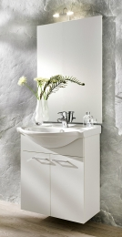 Waschplatz Waschtisch Waschbecken Adelano walnuss-schwarz  Maße B x T x H ca. 103,5 x 70 x 9 cm