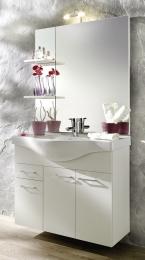 Waschplatz Waschtisch Waschbecken Adelano weiss  Maße B x T x H ca. 103,5 x 70,5 x 7,5 cm