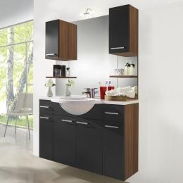 Waschplatz Waschtisch Waschbecken Adelano walnuss-schwarz  Maße B x T x H ca. 104 x 70,5 x 9,5 cm