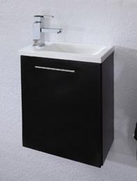 HandWaschplatz Waschtisch Waschbecken Alexo anthrazit  Maße B x T x H ca. 56,5 x 43 x 9 cm
