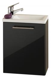 HandWaschplatz Waschtisch Waschbecken Alexo anthrazit  Maße B x T x H ca. 56,5 x 43 x 8 cm