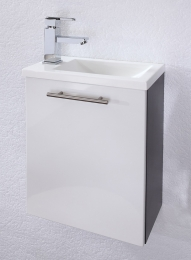 Handwaschplatz Alexo Hochglanz Waschplatz Badezimmer Bademöbel kleines Bad  Vanity