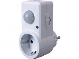 Plug-In ES360P Stecker / Zwischenschalter mit Infrarotsensor, 120°, max. 1200W