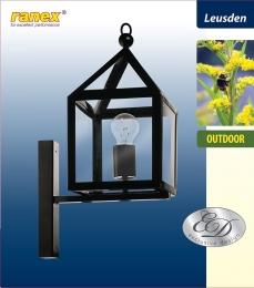 Ranex  Wandleuchte Leusden Schwarz Außenleuchte Wandlampe Außenlampe Gartenleuchte