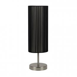 Nachttischlampe UDO schwarz Tisch-Lampe  Wohnzimmer Design Deko Beleuchtung 43cm