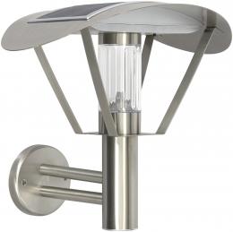 Edelstahl Solar LED Außen Wandleuchte mit Dämmerungssensor High Lumen