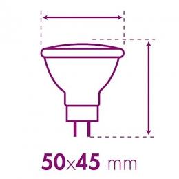 2 er Set XQ-lite LED-Reflektor GU5,3, 4 W, ersetzt 20 W, 220 Lumen, Abstrahlwinkel 38 Grad, warm weiß XQ1398 [Energieklasse A+]