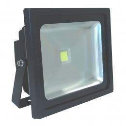 Außen LED Strahler 50 Watt IP65 LED Leuchte Aussenstrahler Schwarz Kaltweiß
