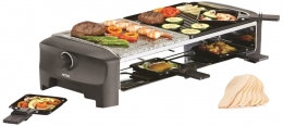 Petra Electric Raclette Heißer Stein für 8 Personen Raclettegrill Raclettegerät Grill