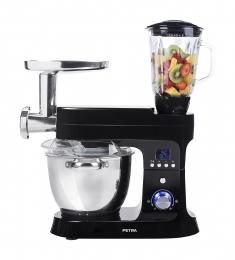 Petra Electric Küchenmaschine Multi MK 12.07 mit 5,5L Edelstahlschüssel und Kochfunktion