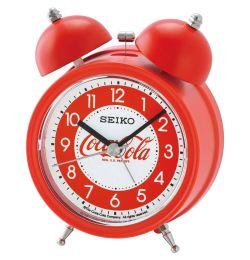 Seiko Wecker Kunststoff analog rot CocaCola QHK905R