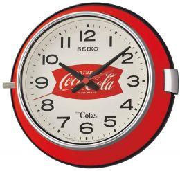 Seiko Wanduhr modern - Serie: Coca Cola QXA923R Material: Metall, Glas